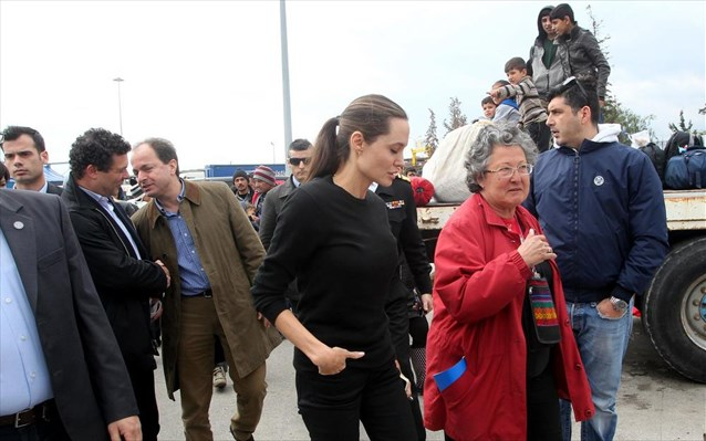 Angelina Jolie In Greece For Refugee Crisis