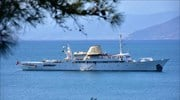 Onassis super yacht again sails in the Aegean