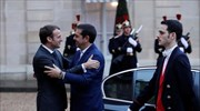 Macron receives visiting Tsipras for talks