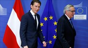 Juncker defends Austrian coalition by pointing to leftist-rightist govt in Athens