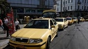 Athens-area taxi owners claim creditors pressuring for return of Uber-like service; call strike