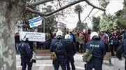 Tension for second day on Lesvos, as would-be asylum seekers again take to streets